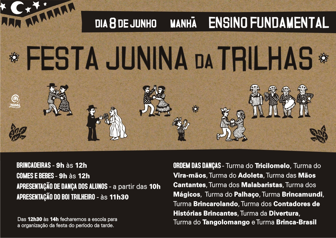 trilhas festa junina 2014 flyer virtual FUNDAMENTAL