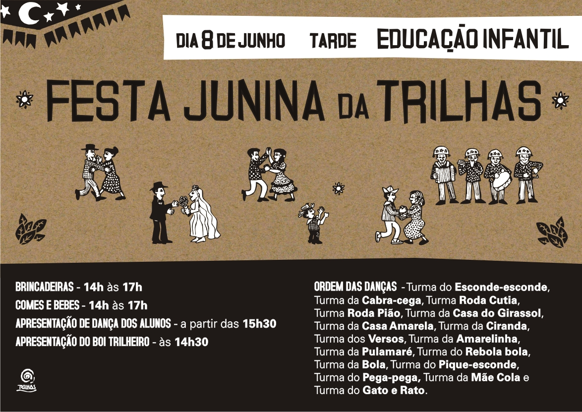 trilhas festa junina 2014 flyer virtual INFANTIL